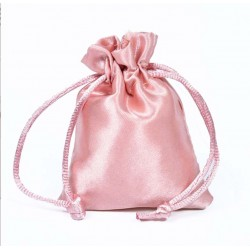 Pink Satin Puches - Pack of 10