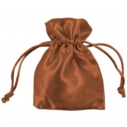 Brown Satin Puches - Pack of 10