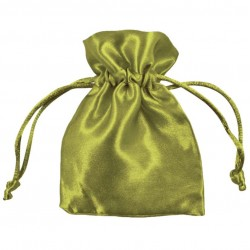 Green Satin Puches - Pack of 10