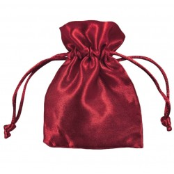 Burgundy Satin Puches - Pack of 10