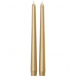 Stick Candles Gold - Pack of 12