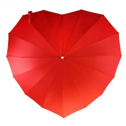 Wedding Umbrella Red Heart
