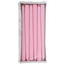 Stick Candles Pink - Pack of 12