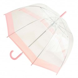 Clear Dome Umbrella - Pastel Pink