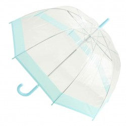 Clear Dome Umbrella - Pastel Turquoise