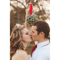 Kiss under the mistletoe